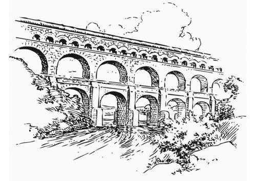 Coloring page Aquaduct