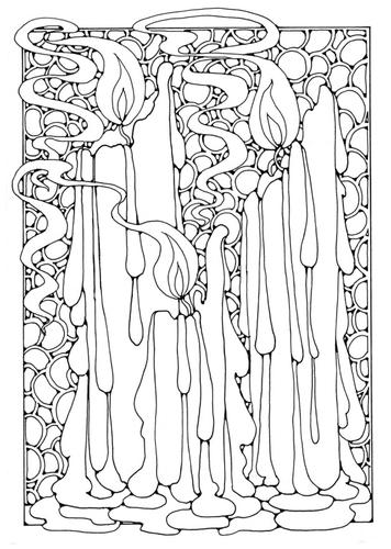 Раскраски страницу Свечи