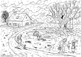 Coloring page 01 autumn