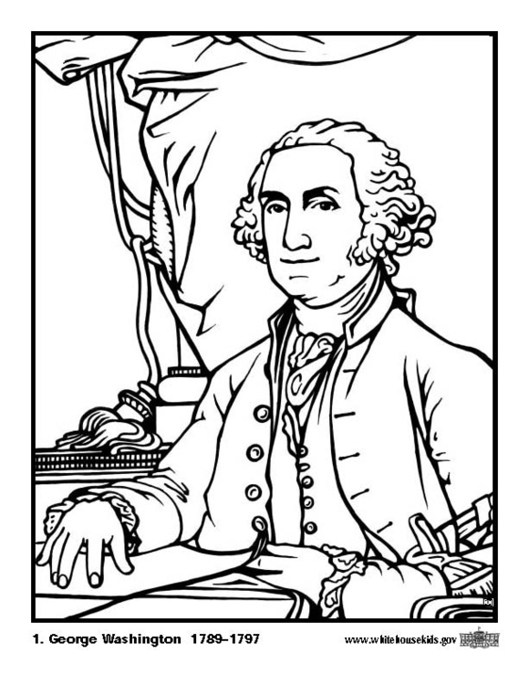 Coloring page 01 George Washington