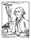 Coloring pages Presidents of the US