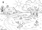 Coloring page 01 Summer