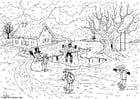 Coloring page 01 Winter