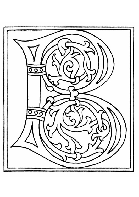 Coloring page 01a. alphabet B