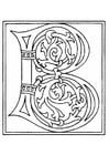 Coloring pages 01a. alphabet B