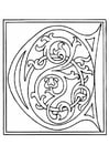 Coloring pages 01a. alphabet C
