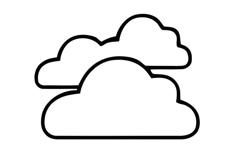 Coloring page 01a. cloudy