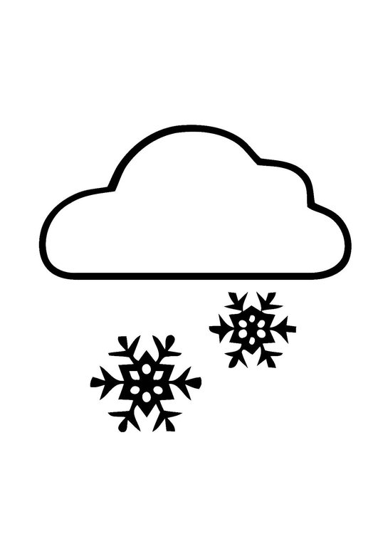 Coloring page 01a. snow
