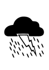 Coloring pages 01a. thunderstorm