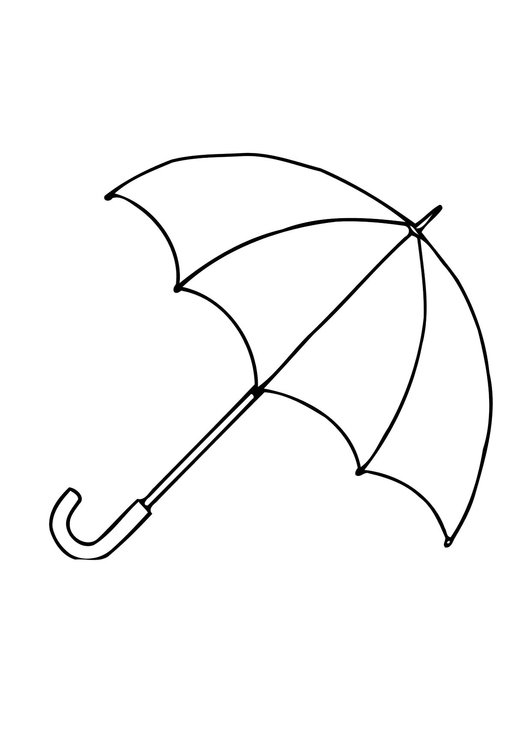 Coloring page 01b.umbrella - open