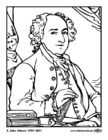 Coloring pages 02 John Adams
