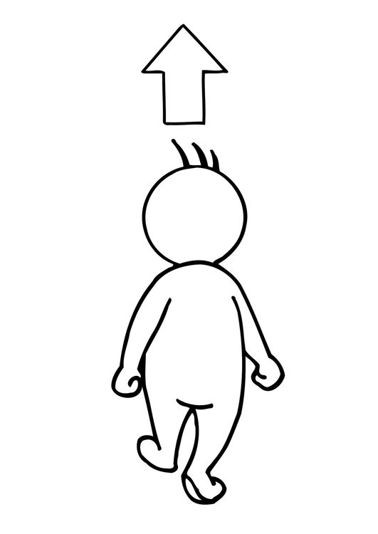 Coloring page 02b. walking away