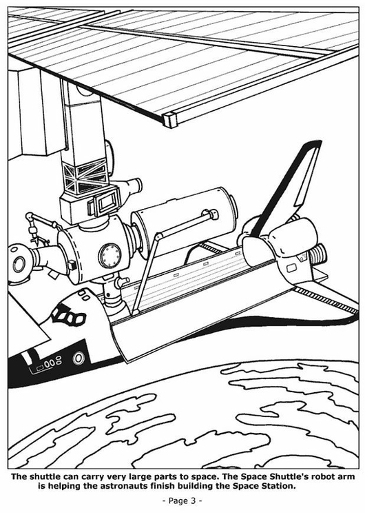 Coloring page 03 building space station