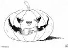 Coloring page 04 halloween pumpkin