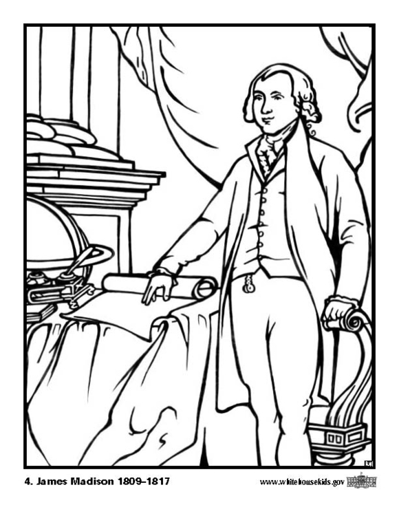 Coloring page 04 James Madison