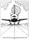 Coloring page 04 space shuttle landing