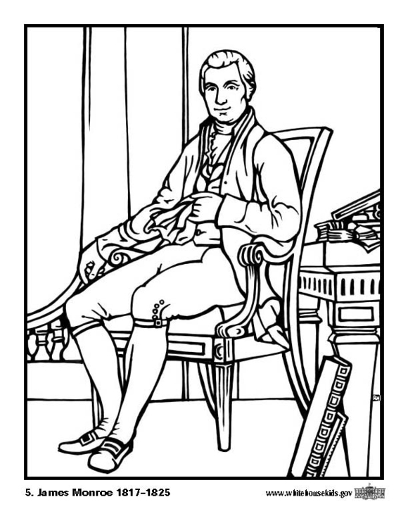 Coloring page 05 James Monroe