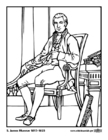 Coloring pages 05 James Monroe