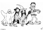 Coloring page 06 halloween trick or treat