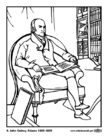 Coloring pages 06 John Quincy Adams