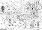 Coloring page 06b. autumn