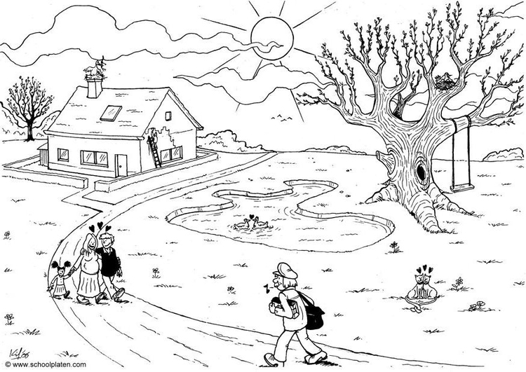 Coloring page 06b. spring