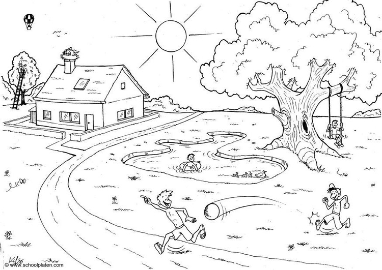 Coloring page 06b. summer