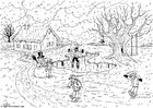 Coloring page 06b. winter