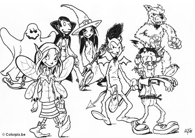 Coloring page 07 trick or treat