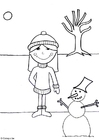 Coloring page 07b. winter