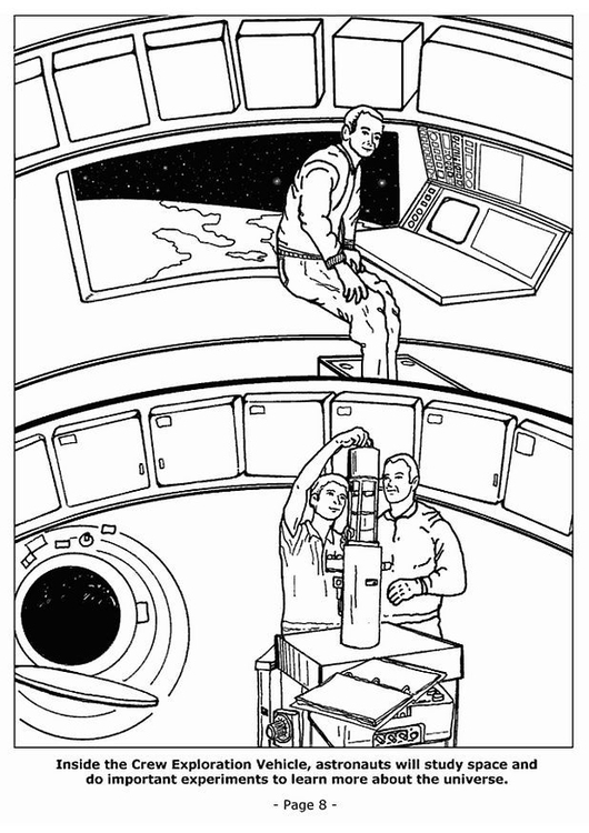 Coloring page 08 space experiments