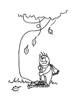 Coloring page 08b. fall
