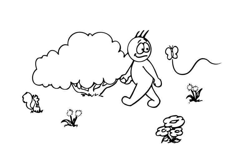 Coloring page 08b. spring