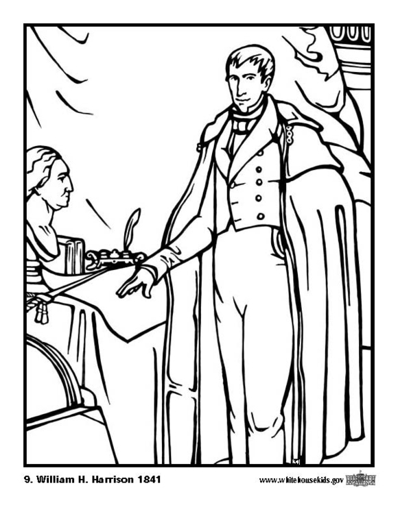 Coloring Page 09 William H Harrison