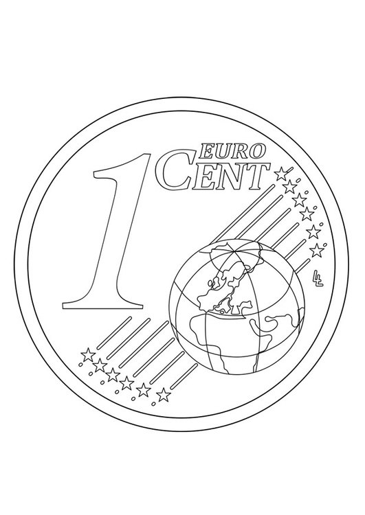 Coloring page 1 cent