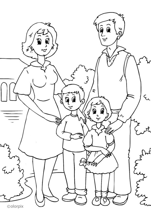 Coloring page 1. family
