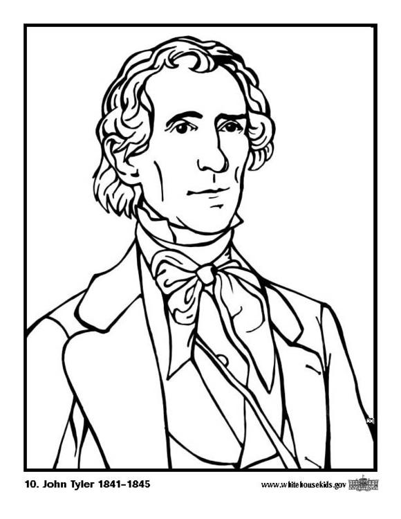 Coloring page 10 John Tyler - img 12584.