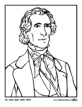 Coloring page 10 John Tyler