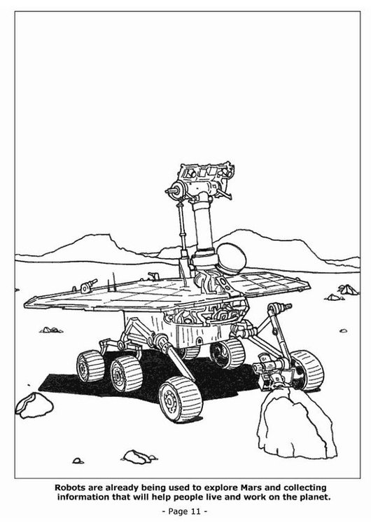 Coloring page 11 Mars expedition