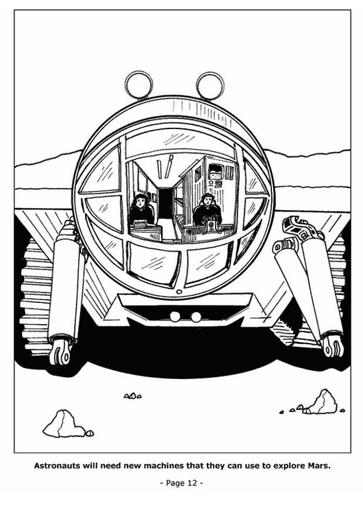 Coloring page 12 Mars exploration