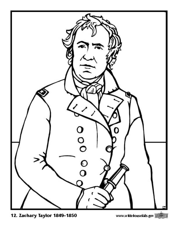 Coloring page 12 Zachary Taylor
