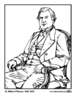 Coloring pages 13 Millard Fillmore