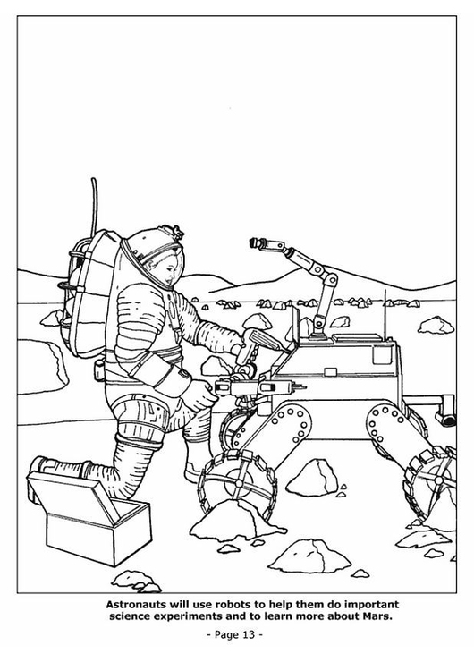 Coloring page 13 space robots
