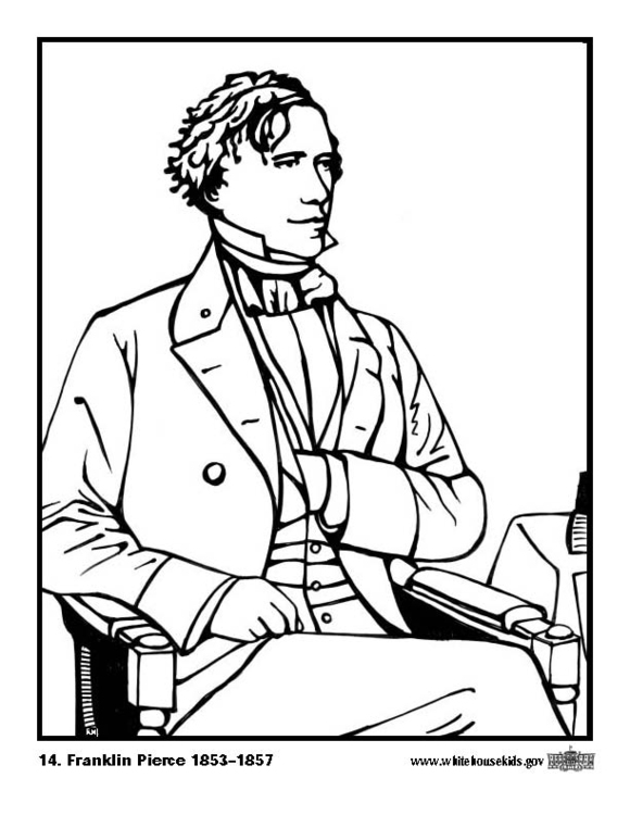 Coloring page 14 Franklin Pierce
