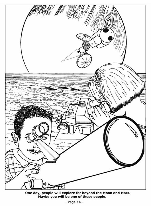 Coloring page 14 space exploration