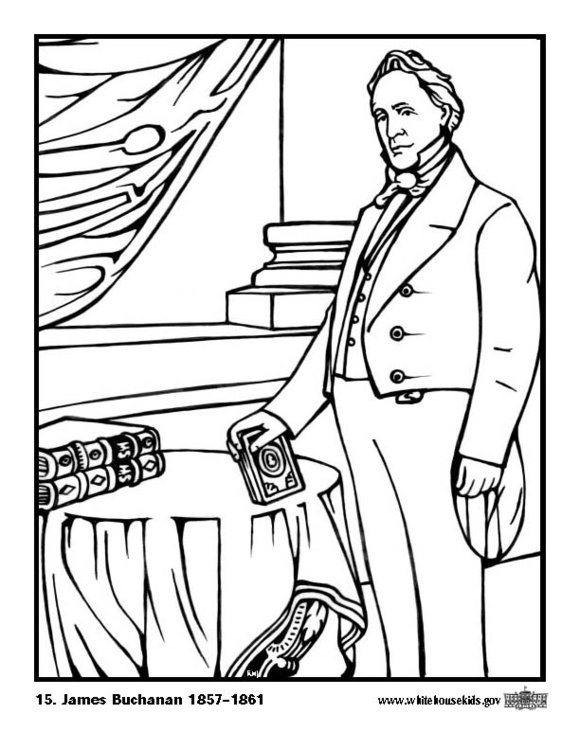 Coloring page 15 James Buchanan