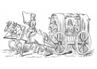Coloring pages 15th century carriage