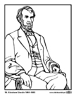 Coloring pages 16 Abraham Lincoln