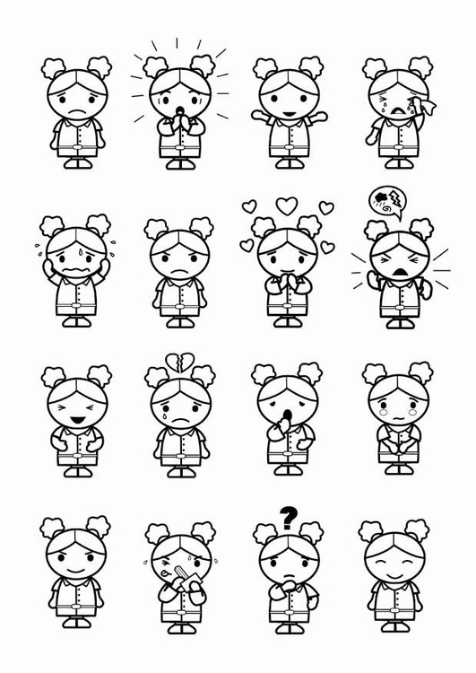 Coloring page 16 emotions