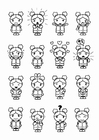 Coloring pages 16 emotions